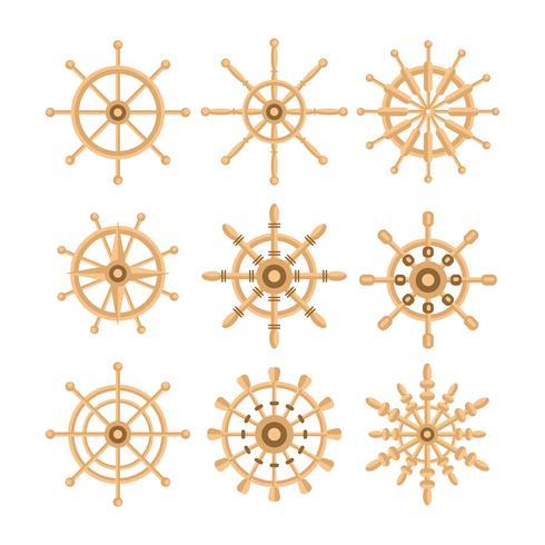 Freie Schiffs-Rad-Vektor-Sammlung