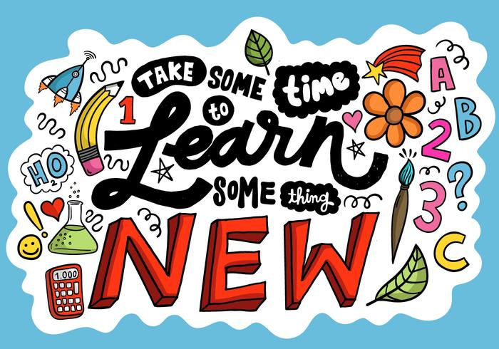 Learn Something New Lettering Vector