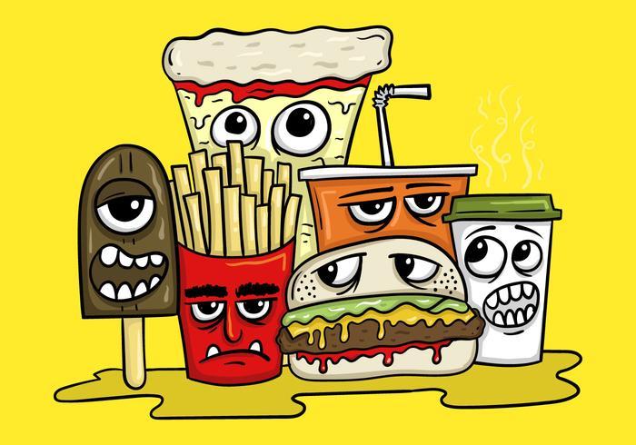 Fast-Food-Charakter-Vektoren vektor
