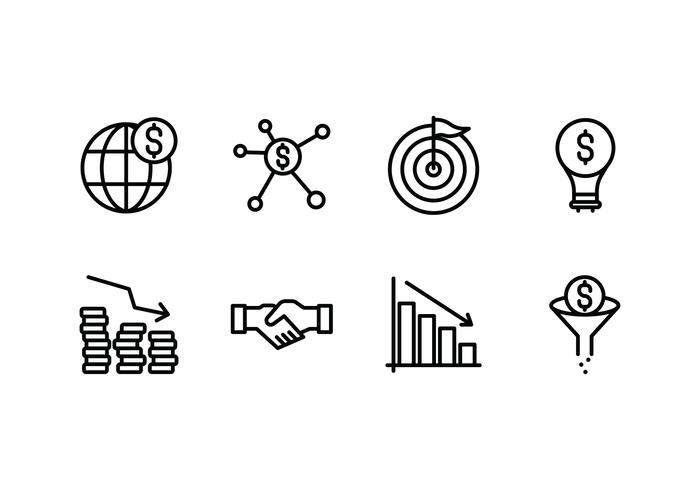 Revenue set linear icon