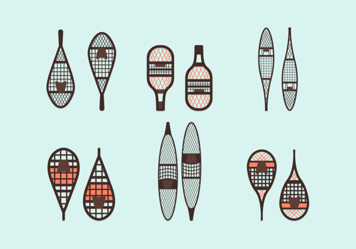Paquet de vecteur libre de raquette