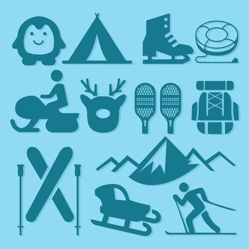 Free Winter Sport and Winter Activity Icons Vector