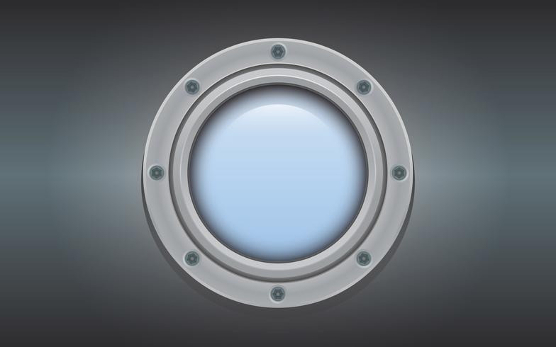 Submarine metal side porthole for underwater