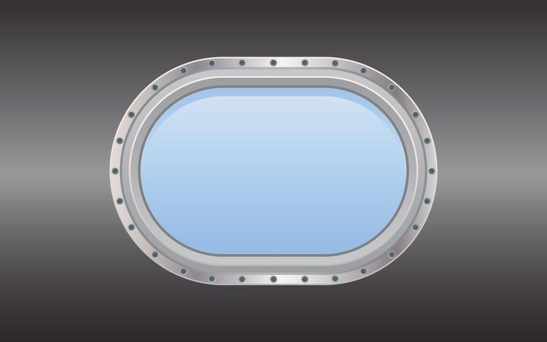 Submarine metal side porthole for underwater