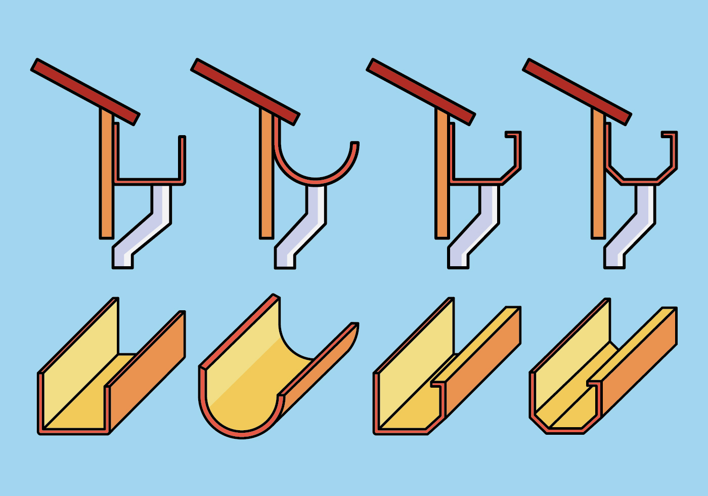 Gutter Icons Set Download Free Vector Art Stock