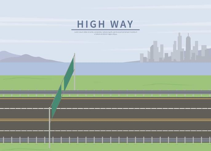 Free Highway Side Illustration