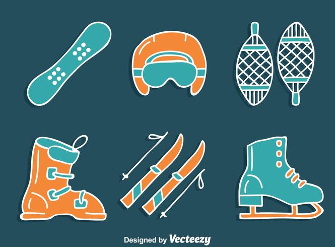Hand Drawn Winter Equipment Vector