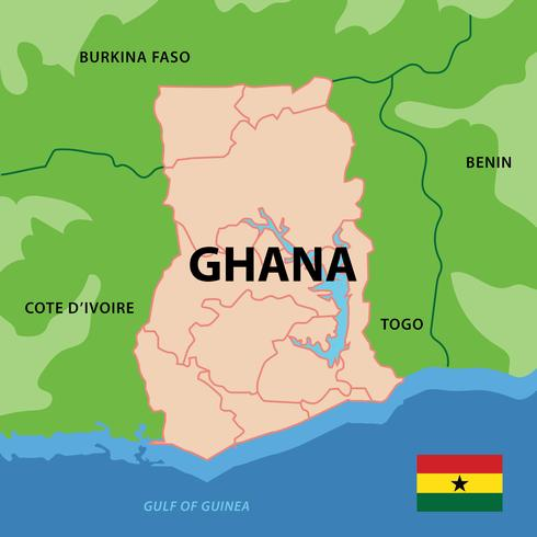 Carte du Ghana