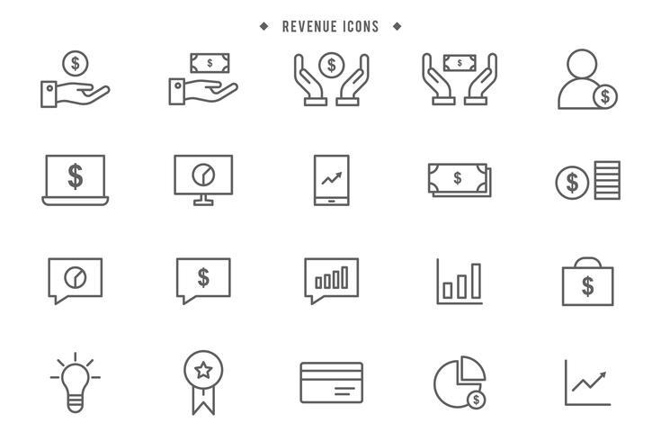 Kostenlose Einnahmen-Vektoren
