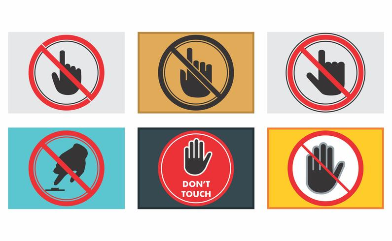 Do Not Touch Vector Pack