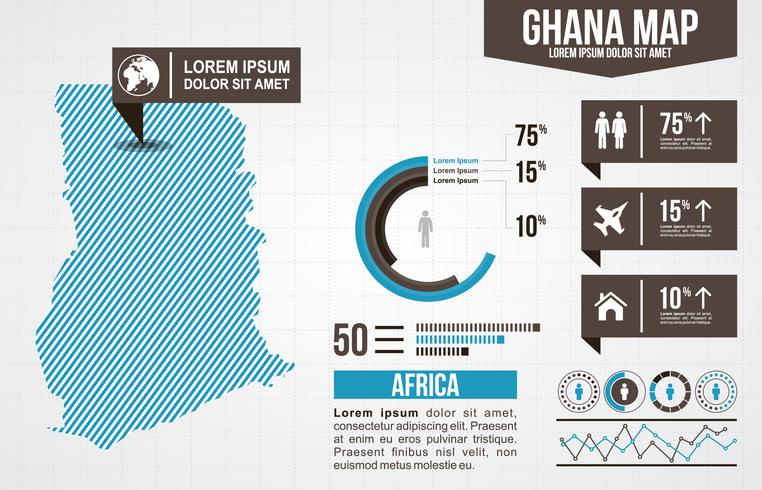 Ghana Karte Infografik