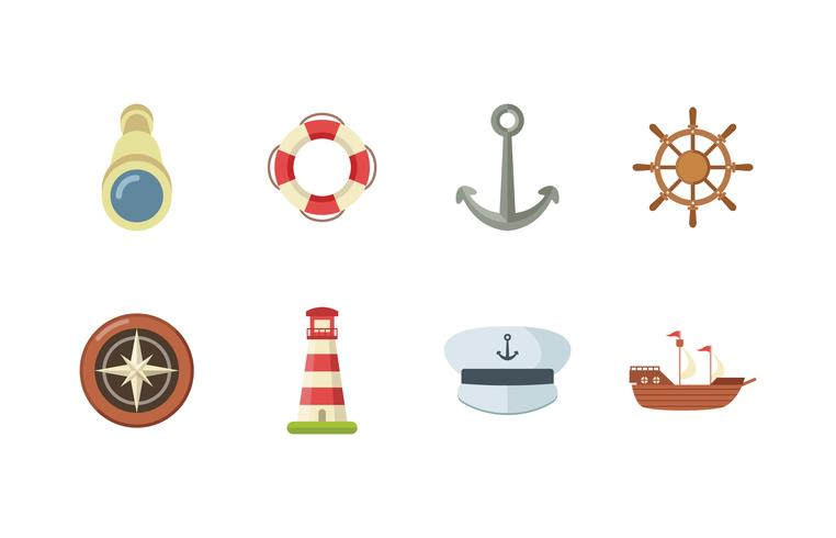 Gratis Marine Icon Set vector
