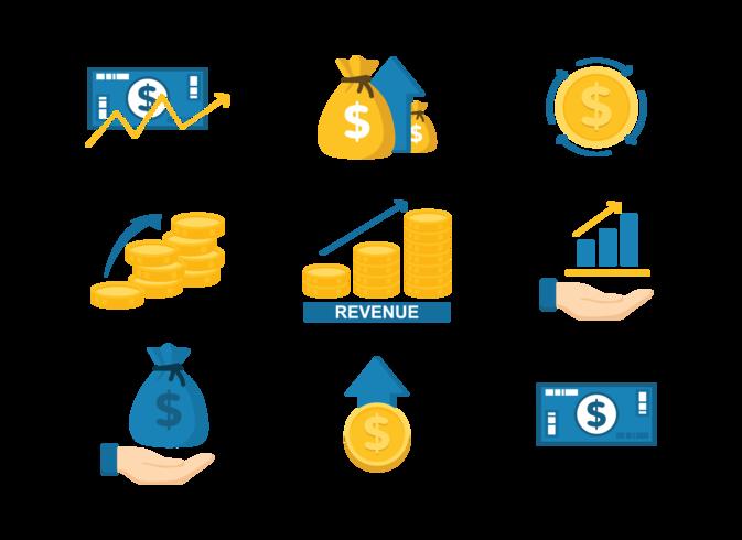 Revenue Icons Vector