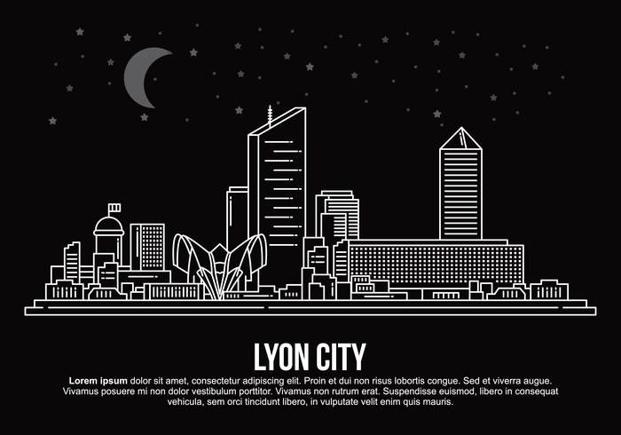 Lyon Stadt Vektor-Illustration