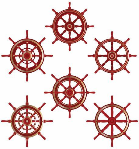 Vetores de roda de navios