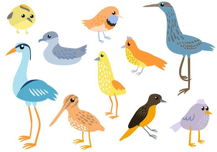 Free Simple Birds Vectors