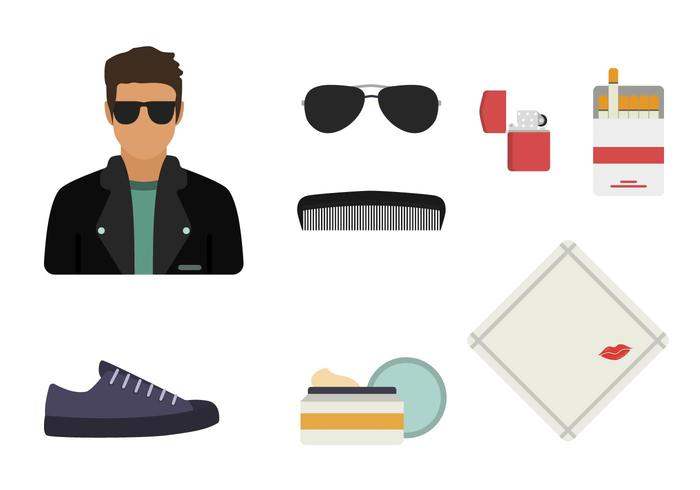 Flat Greaser Style Essential Vectors