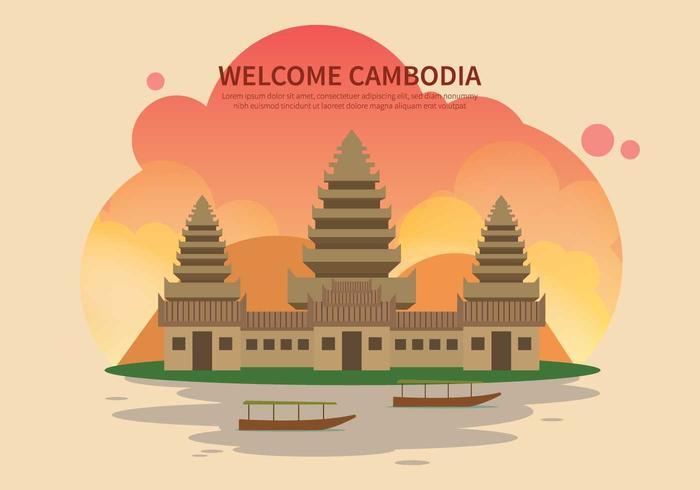 Kostenlose Kambodscha Illustration