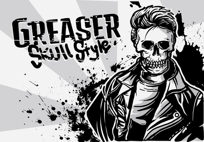 Greaser Boy Illustration