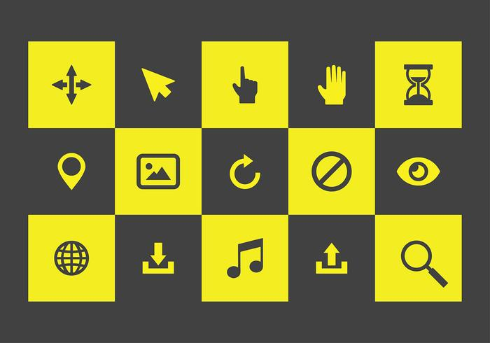 Mouse Over Icons Free Vector