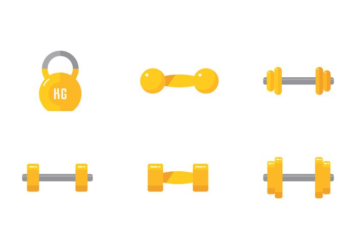 Fitness Dumbbell vector