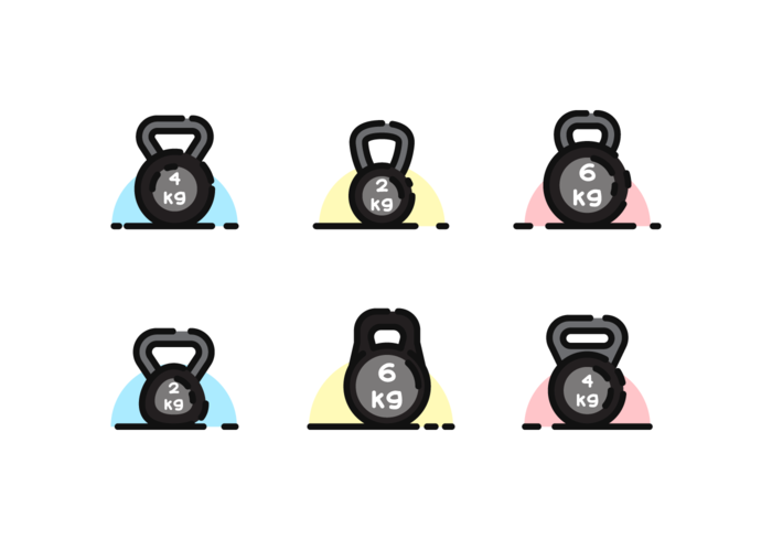 Kettle Bell vecteur libre Pack