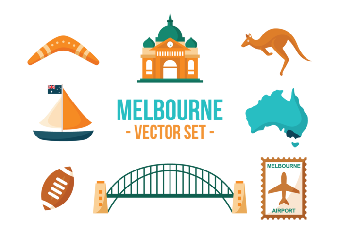 Vector de iconos de Melbourne