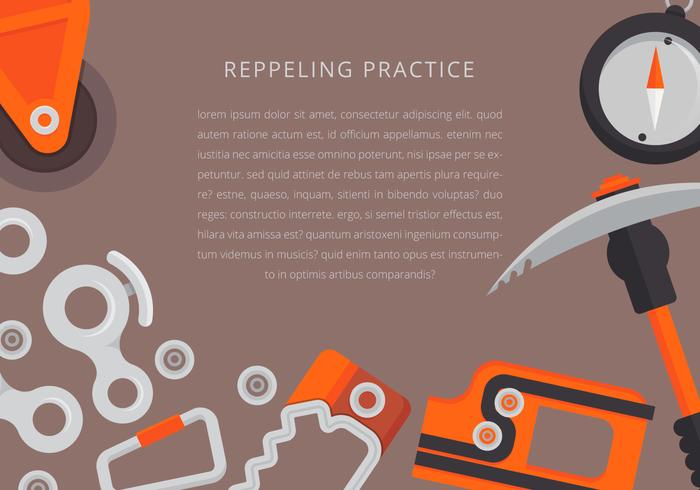 Rappel Tools and Equipment Illustration