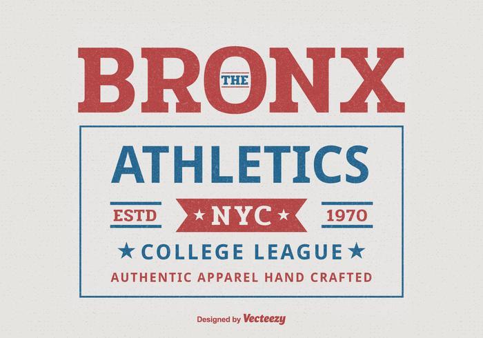 Bronx New York College Leichtathletik Sport Typografie T-Shirt Vektor-Design