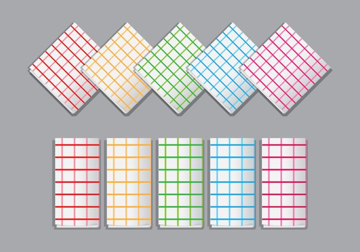 Bright Plaid Napkin Vectors