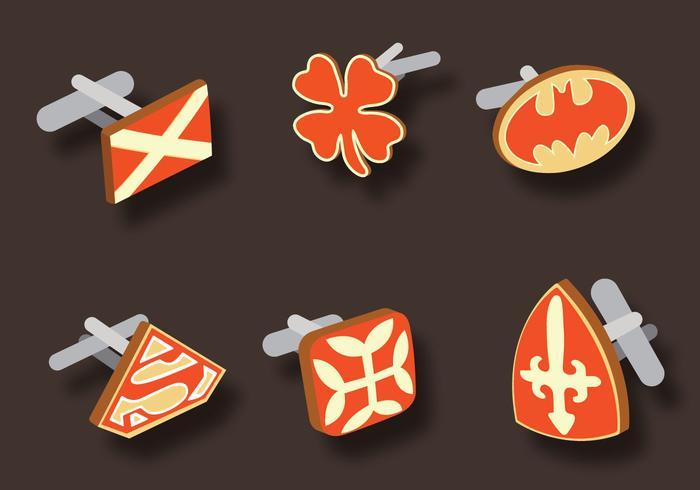 Manchetknoop Vector Pack