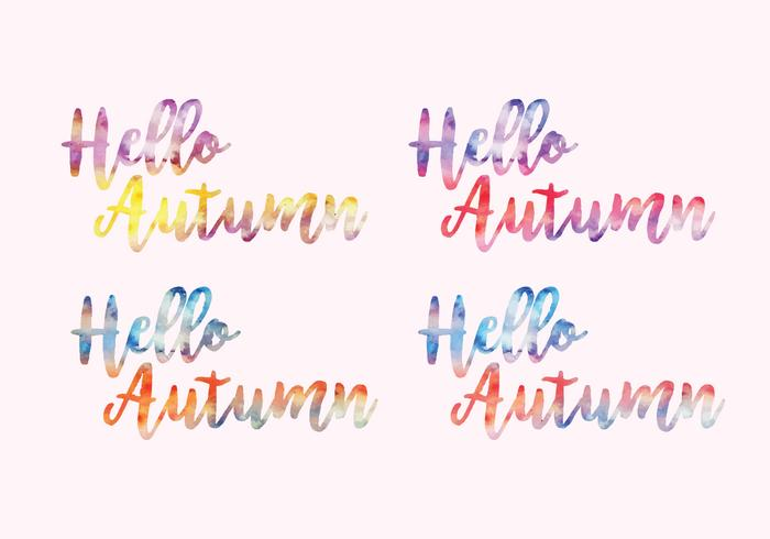 Vector Watercolor Messages