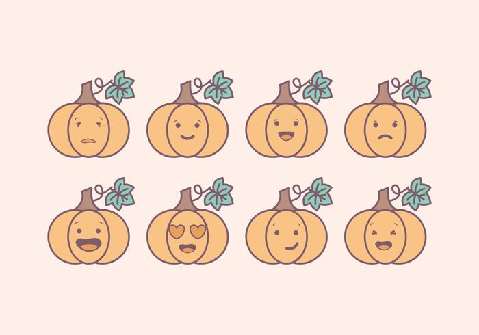 Vector Pompoen Emoticons