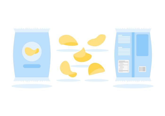 Kartoffelchips mit Nährwertangaben Vektoren