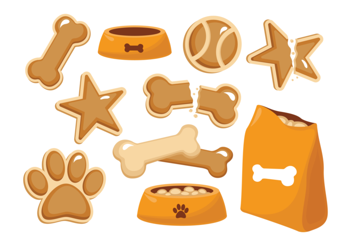 Dog Biscuit Ikoner Vector