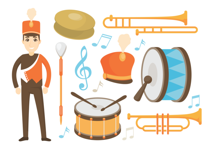 Marching Band Icons Vector