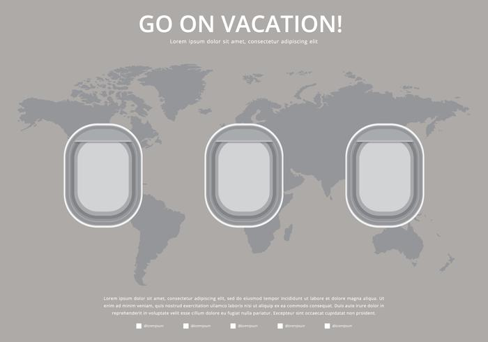 Plane Window Vacation Trip Template