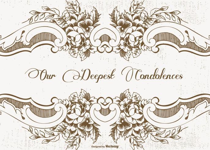 Vacker Vintage Style Condolences Card