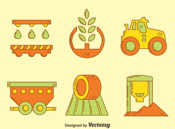 Vector desenhado à mão do elemento agrícola