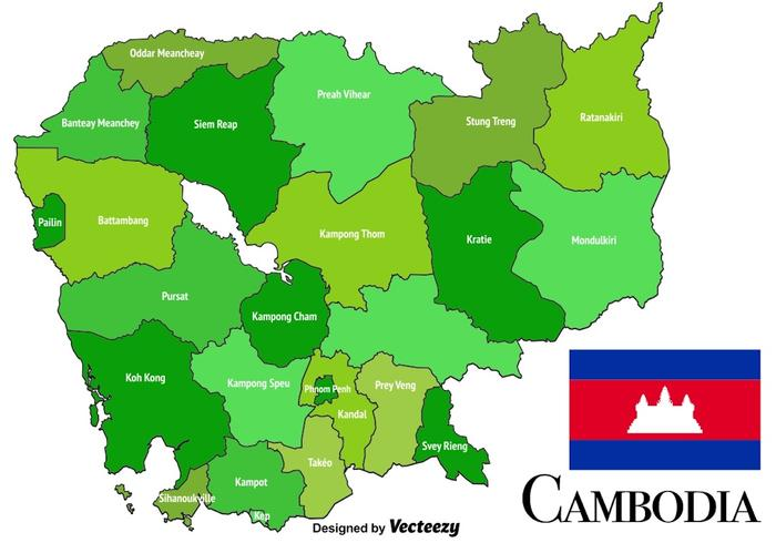 Vector Cambodia Map Download Free Vector Art Stock Graphics - Cambodia map