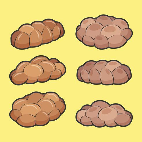Challah Bröd Vector Collection