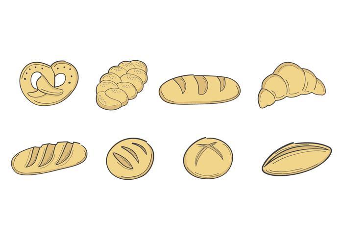 Collection de vecteur de pain gratuit