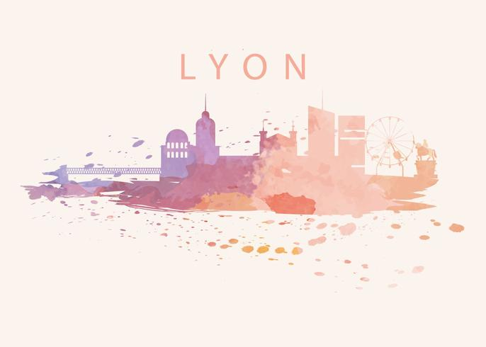 Lyon City Of Watercolor