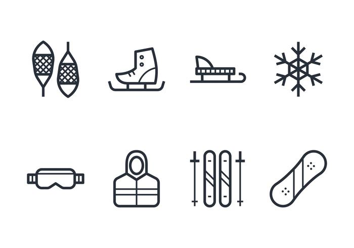 Jeu d'icônes d'hiver