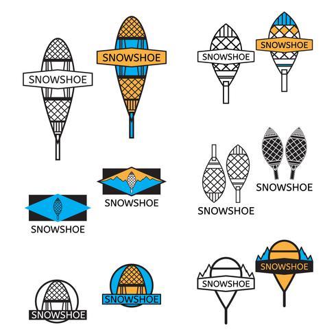 snowshoe icon set