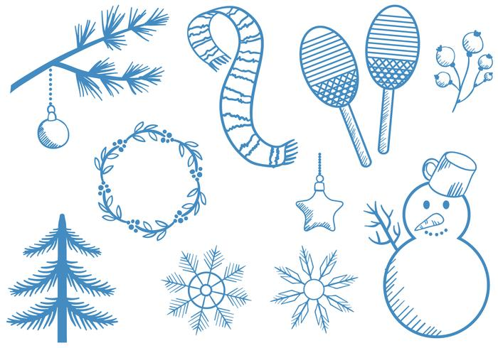 Free Vintage Winter Vectors