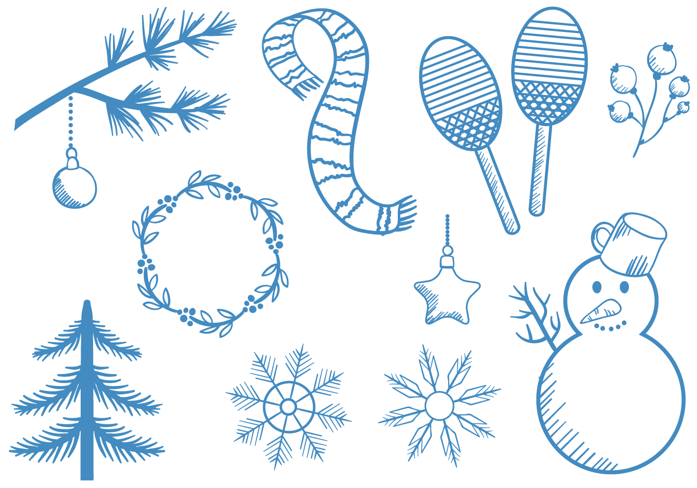 Free Vintage Winter Vectors - Download Free Vectors ...