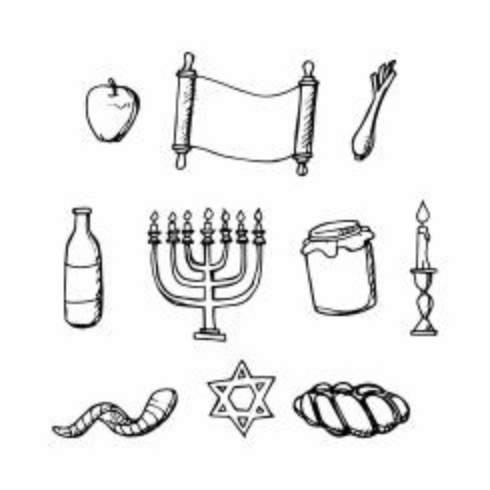Gratis Jewish Holiday Hand Drawn Icon Vector