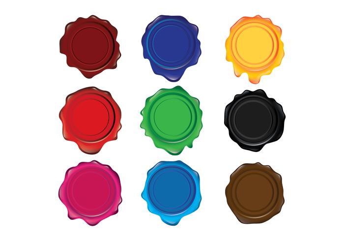 Olika färger Vaxningstätningar