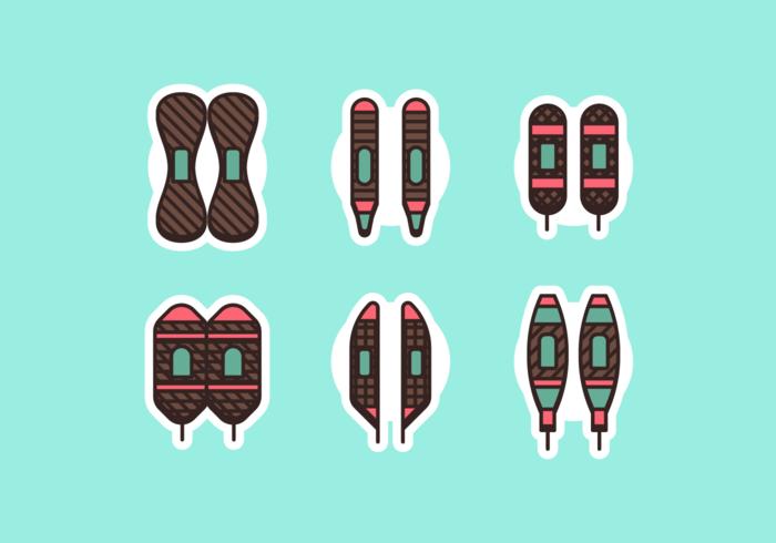Schneeschuh gratis Vector Pack